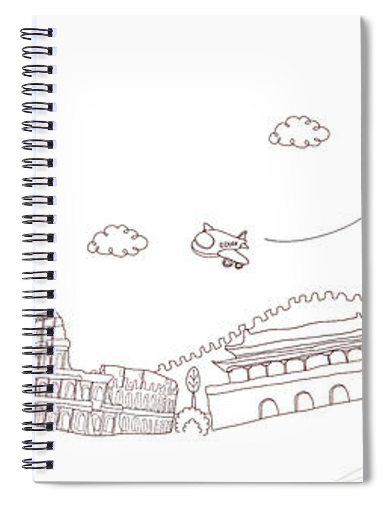 Chinese Culture Spiral Notebook featuring the digital art Famous Places And Monuments Of The World by Eastnine Inc.