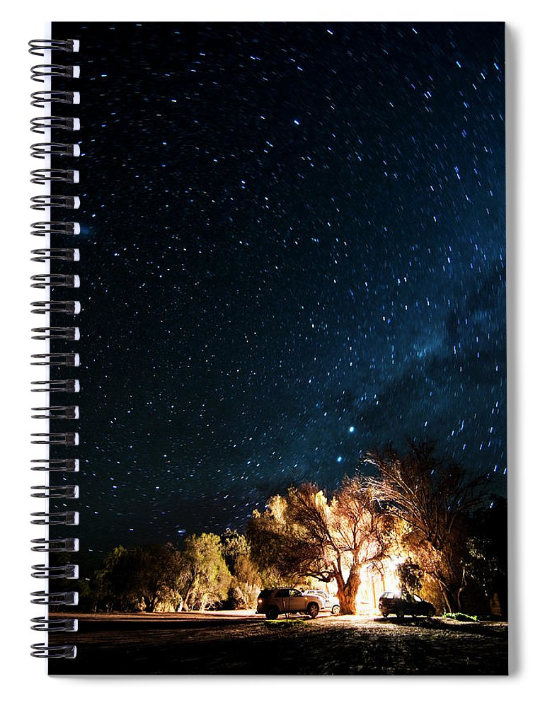 Northern Cape Province Spiral Notebook featuring the photograph Farm House And Milky Way by Subman