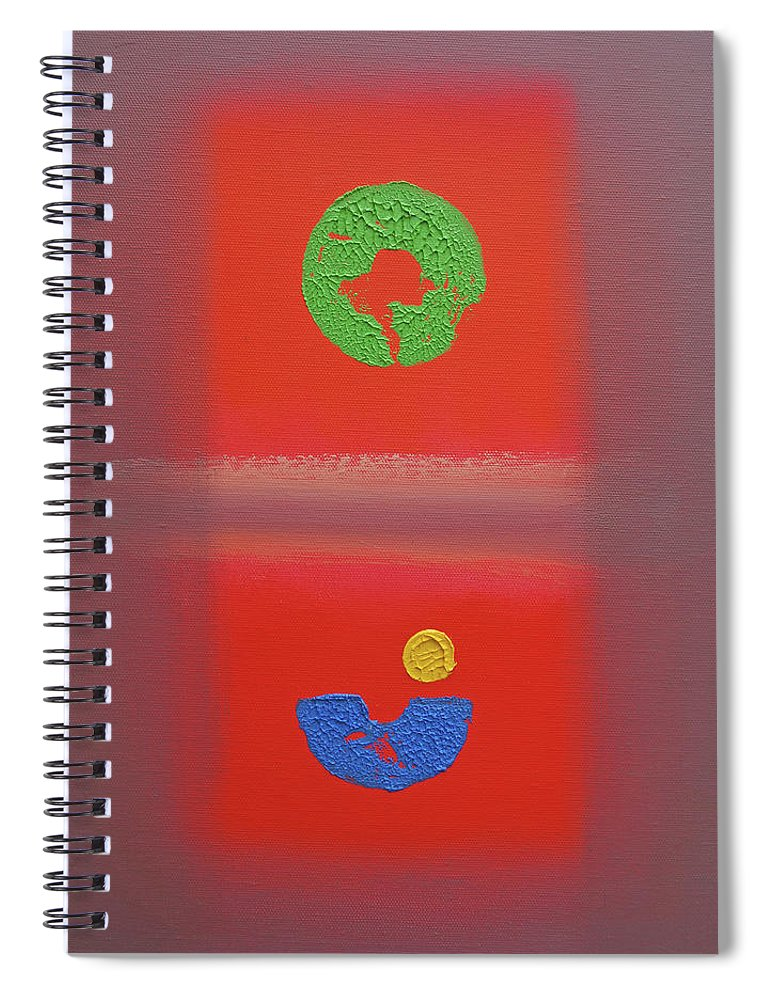 Red Spiral Notebook featuring the painting Fauve Pacific by Charles Stuart
