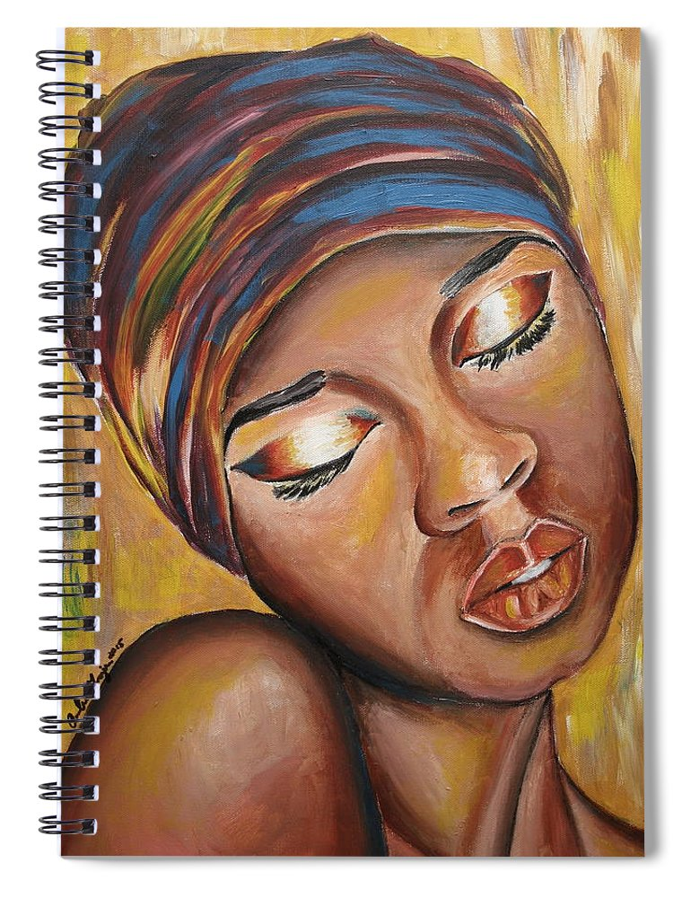 Lady Spiral Notebook featuring the painting Feeling Some Type of Way by Anitra Frazier