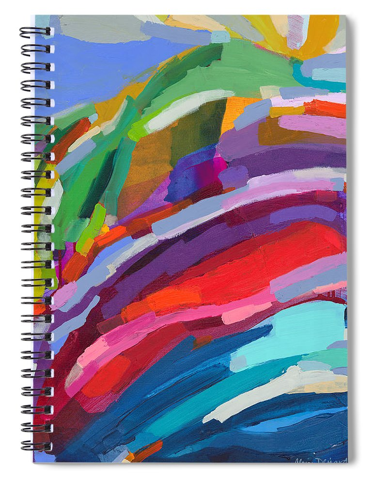 Abstract Spiral Notebook featuring the painting Felicity by Claire Desjardins