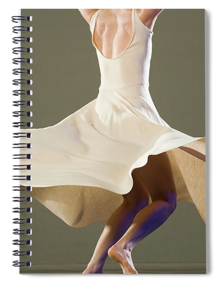 Ballet Dancer Spiral Notebook featuring the photograph Female Ballet Dancer Dancing by Erik Isakson