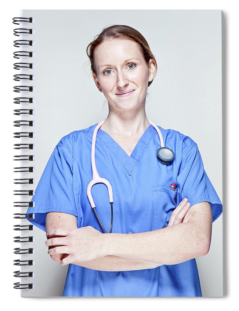 People Spiral Notebook featuring the photograph Female Doctor by James Whitaker