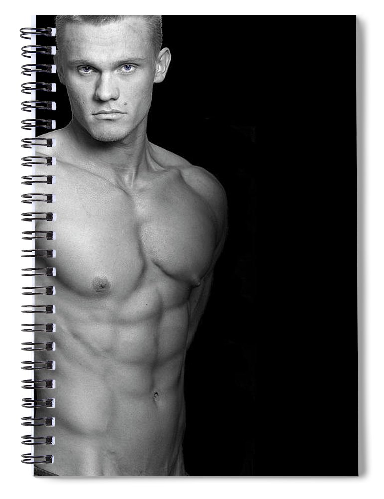 Cool Attitude Spiral Notebook featuring the photograph Fitness Portrait by Ragnak