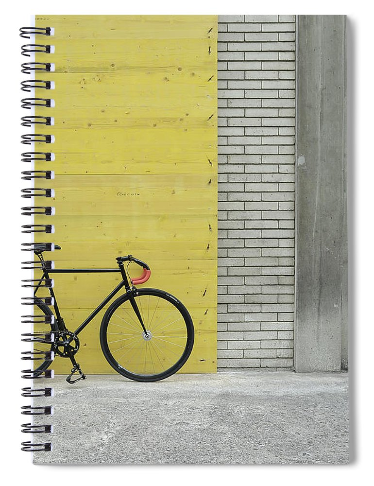Tranquility Spiral Notebook featuring the photograph Fixie by Gaëtan Rossier - Switzerland
