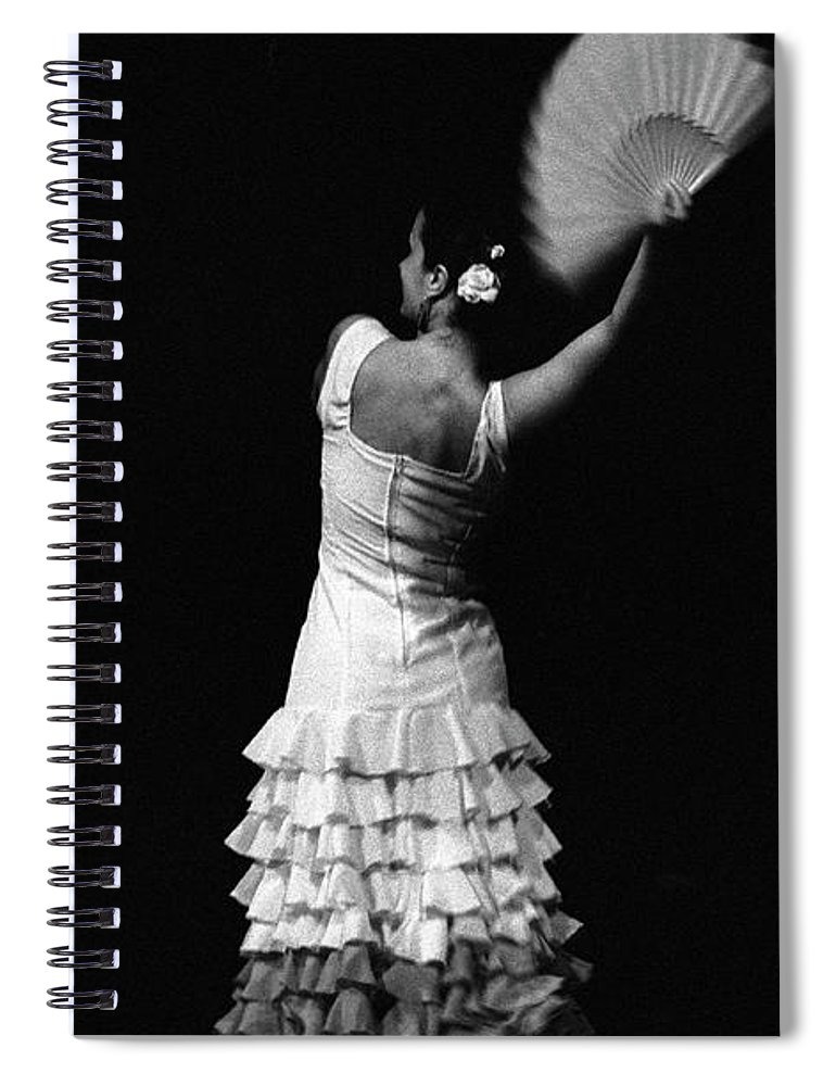 Ballet Dancer Spiral Notebook featuring the photograph Flamenco Lace Fan by T-immagini