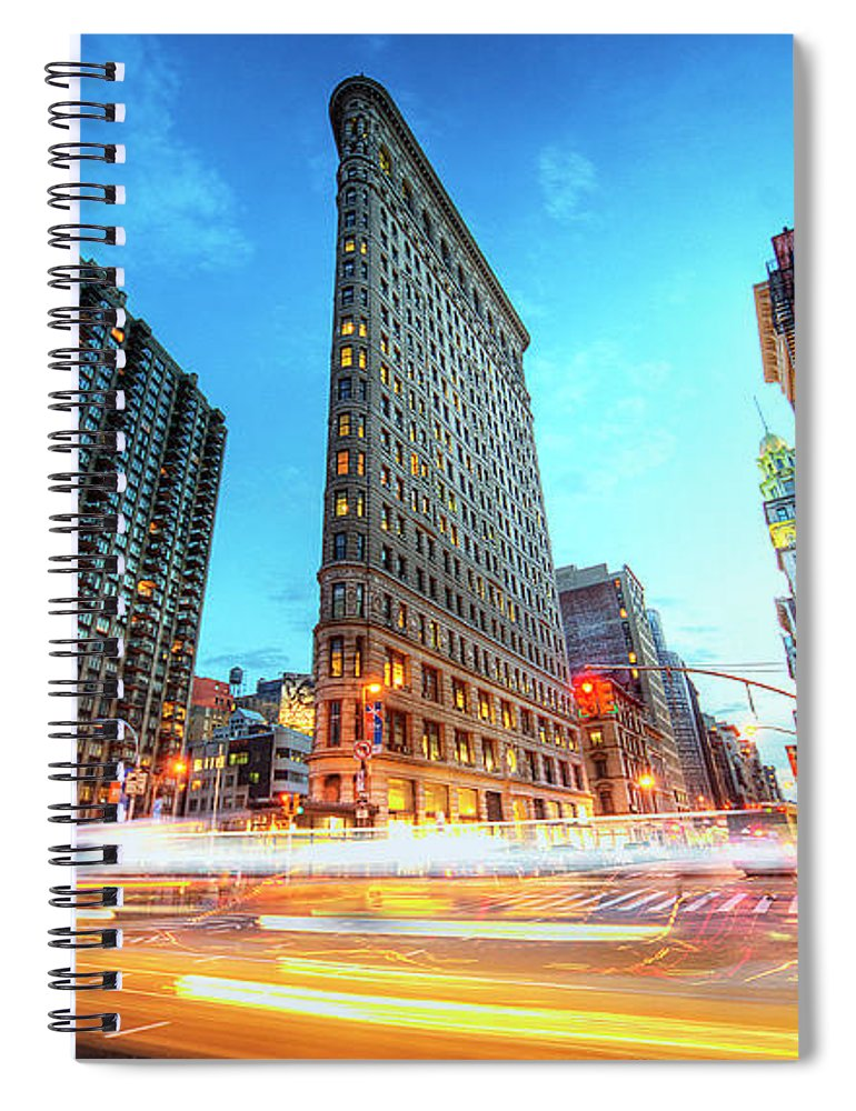 Outdoors Spiral Notebook featuring the photograph Flatiron by Tony Shi Photography