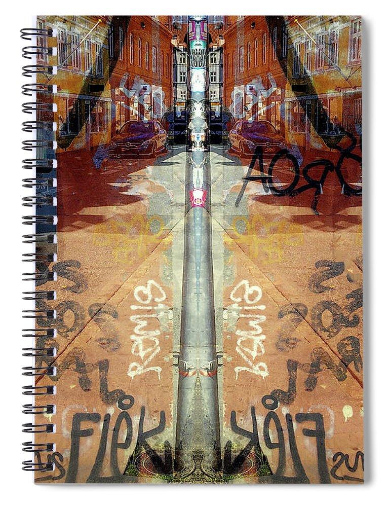 Fine Art Spiral Notebook featuring the digital art FLeK by Ole Klintebaek