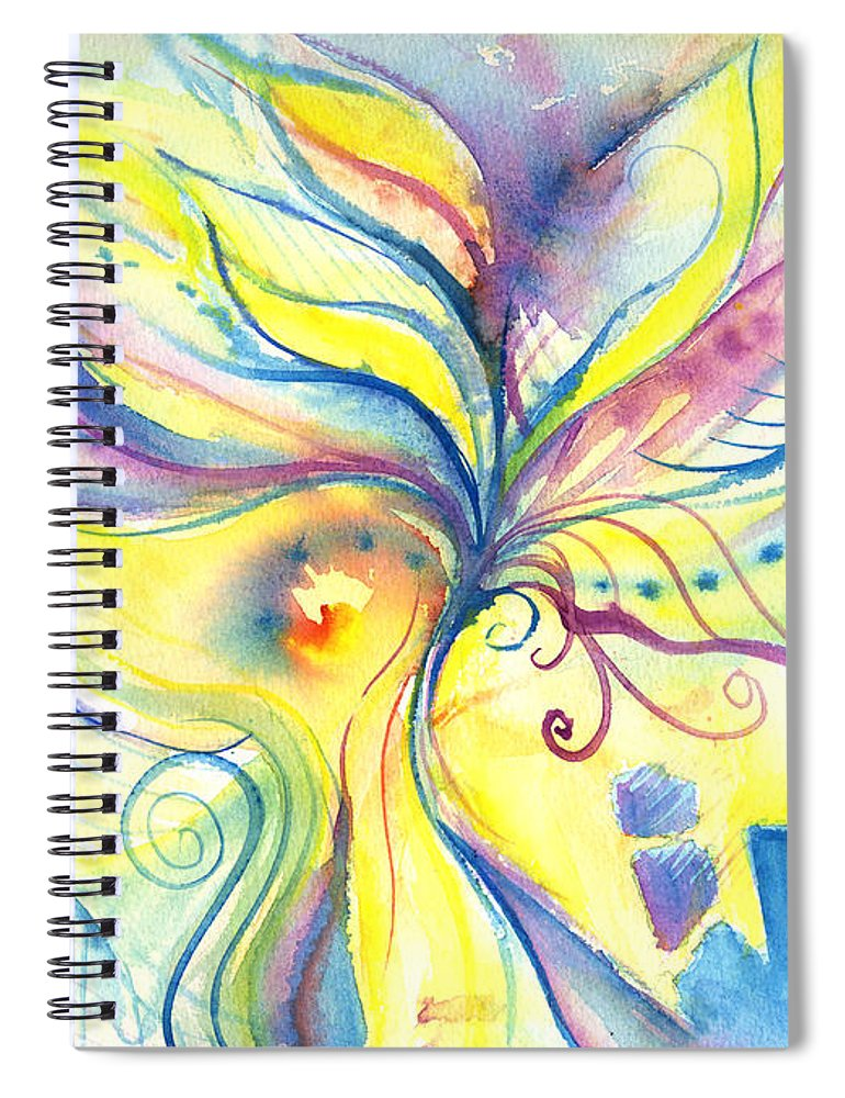 Rectangle Spiral Notebook featuring the digital art Flower Of The Soul by Stereohype