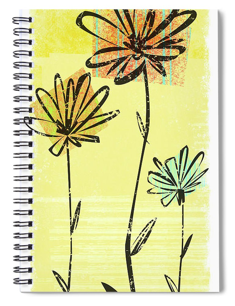 California Spiral Notebook featuring the digital art Flowers In Springtime by Harry Briggs