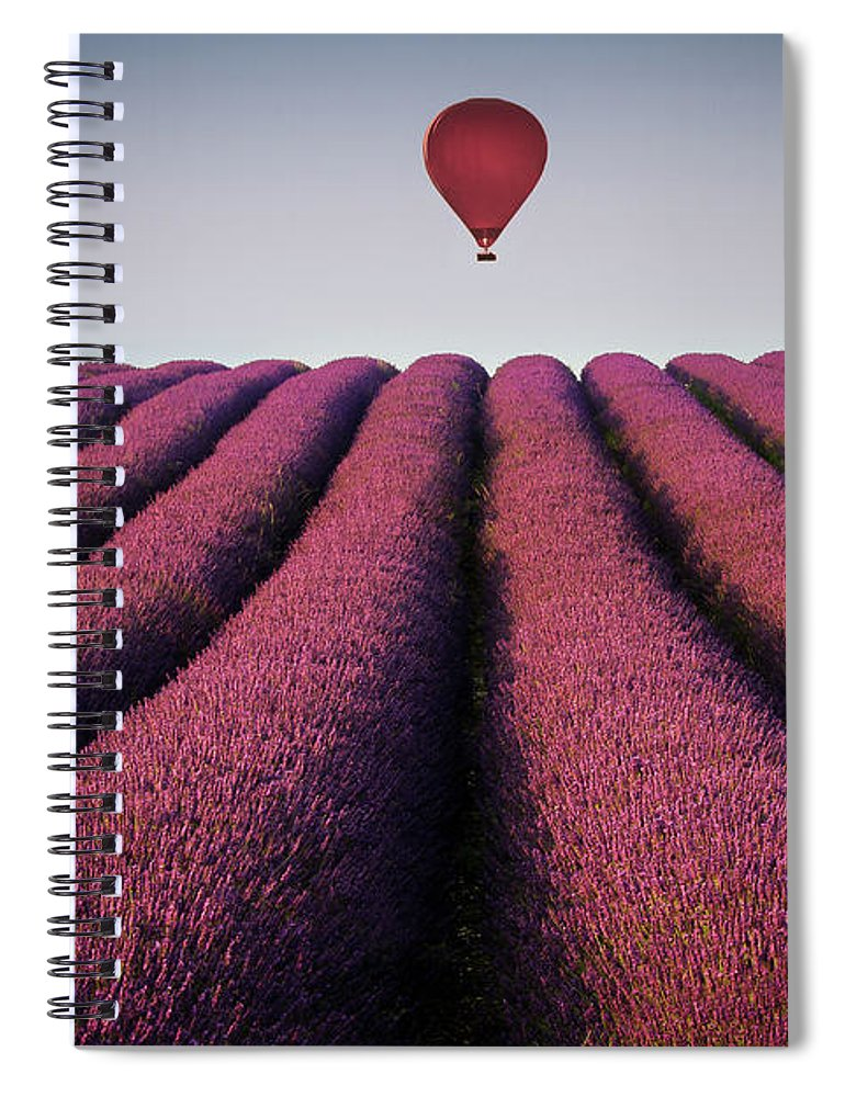 Shadow Spiral Notebook featuring the photograph Flying High by Paul Baggaley