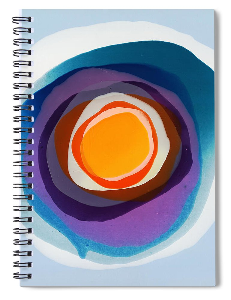 Abstract Spiral Notebook featuring the painting Focussed by Claire Desjardins