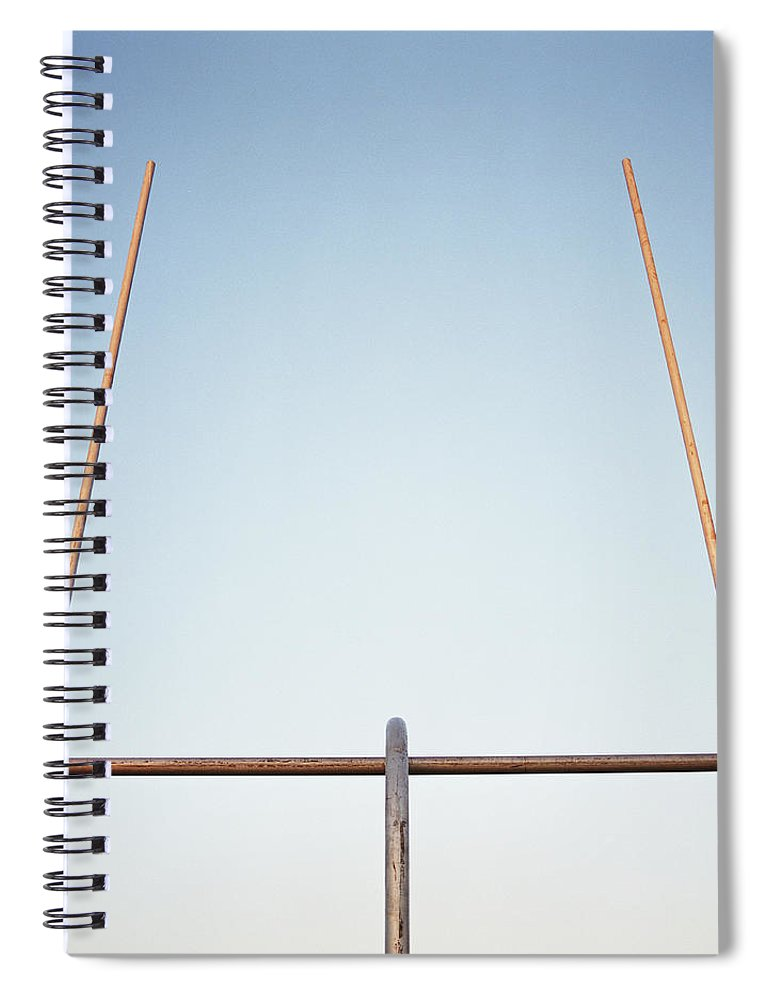 Goal Spiral Notebook featuring the photograph Football Goal Post by Mike Powell