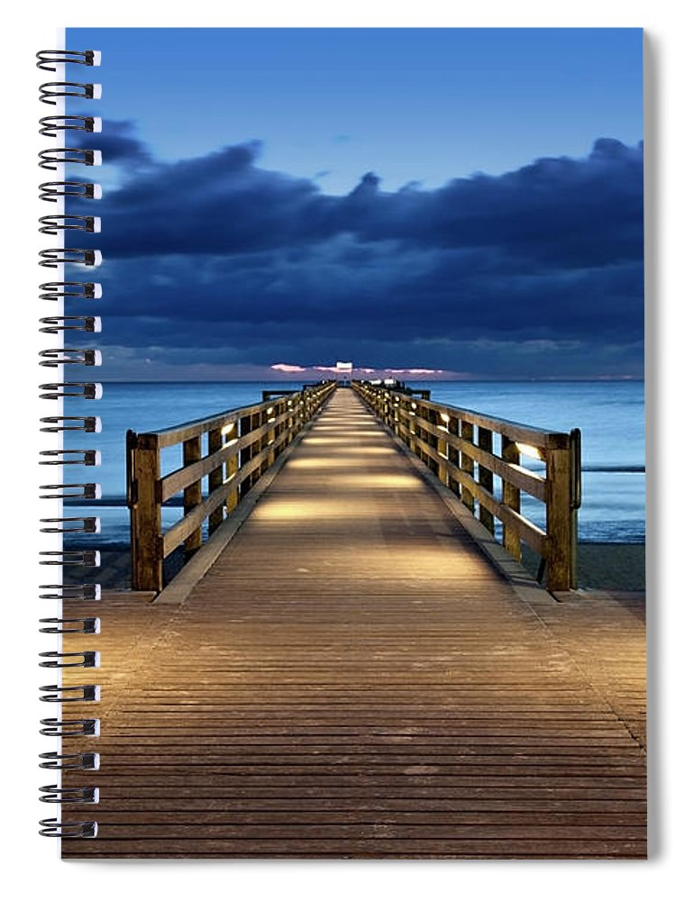 Water's Edge Spiral Notebook featuring the photograph Footbridge by Bertlmann