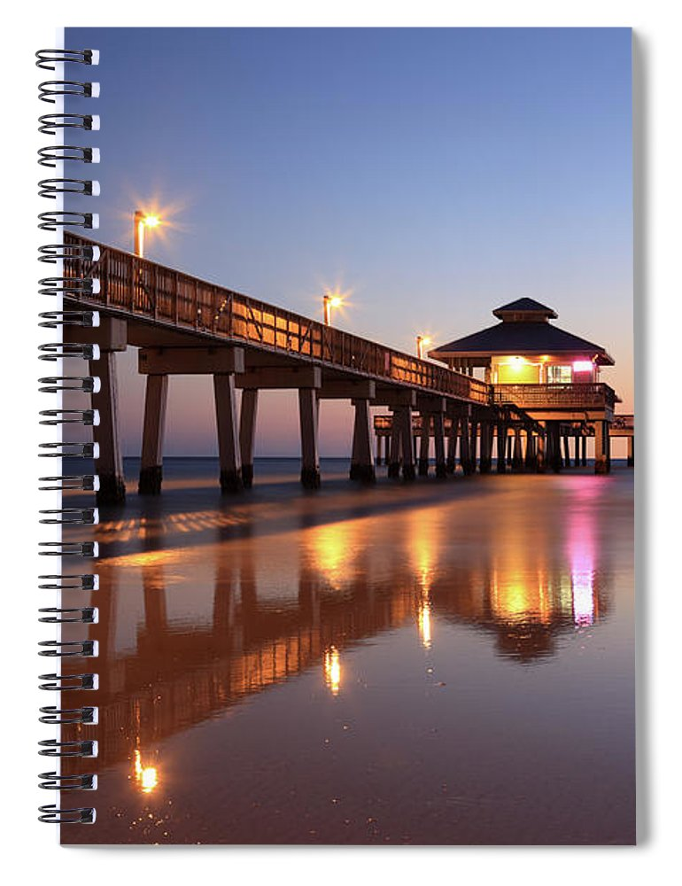 Built Structure Spiral Notebook featuring the photograph Fort Myers Beach, Florida by Jumper