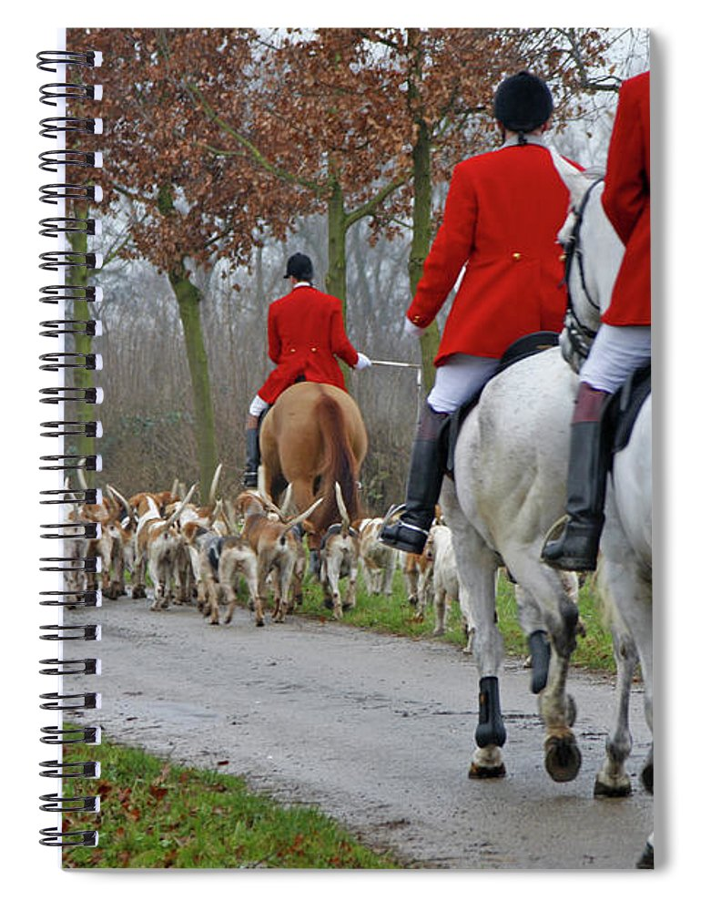 Horse Spiral Notebook featuring the photograph Fox Hunt 1 by Lya cattel