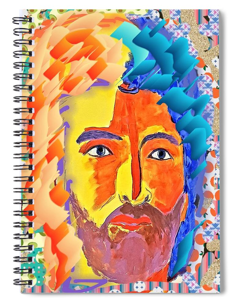 Face Spiral Notebook featuring the digital art Free Mind by Paola Baroni