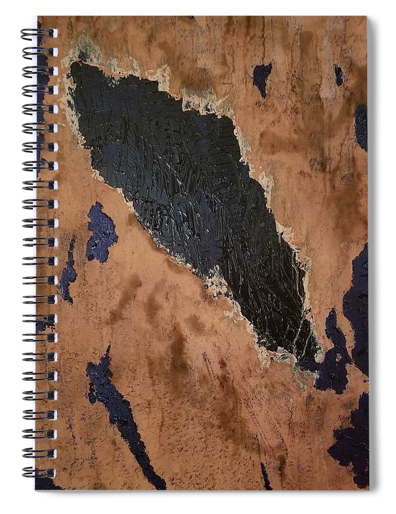 Painting Spiral Notebook featuring the painting From above by Paulina Roybal