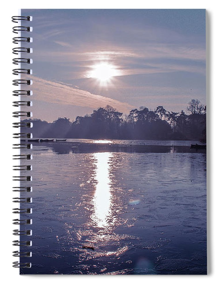 Lake Spiral Notebook featuring the photograph Frozen by Claire Lowe