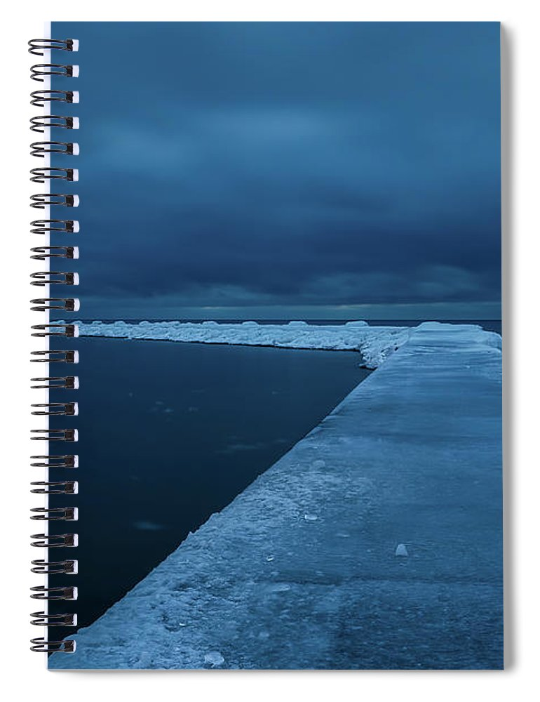 Tranquility Spiral Notebook featuring the photograph Frozen Path by John Fan Photography