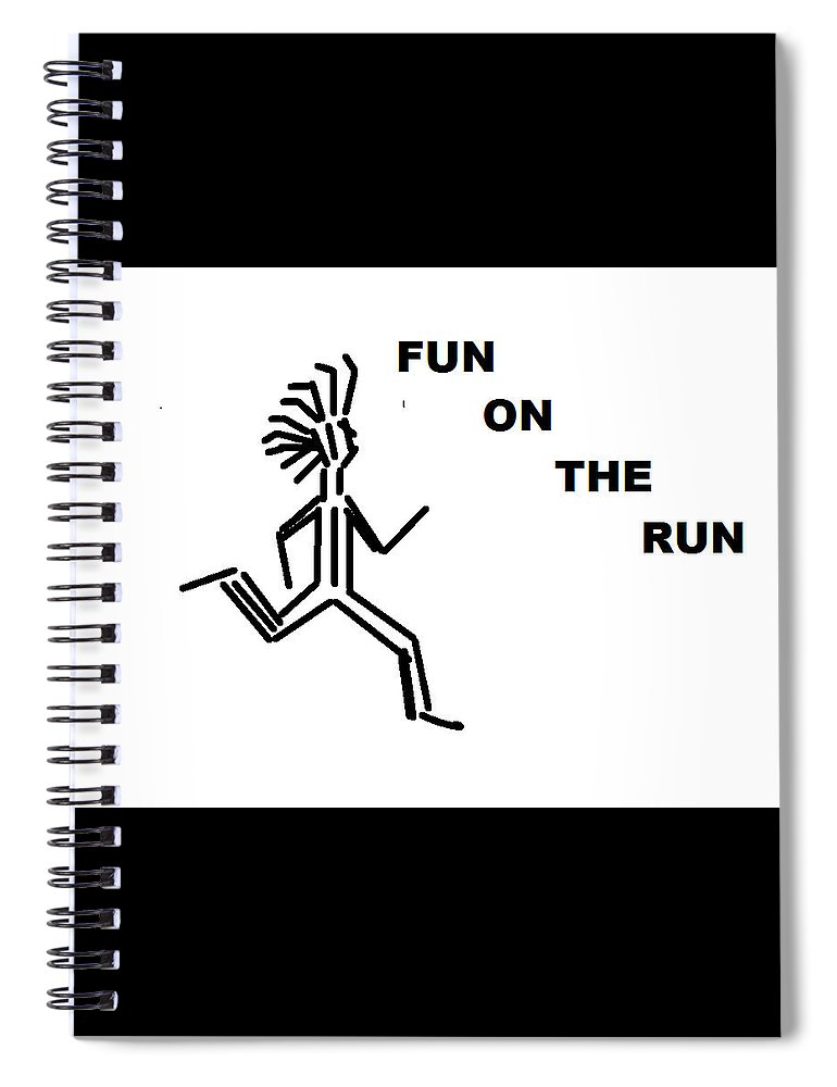 Drawingart Spiral Notebook featuring the drawing Fun on the RuN by Andrew Johnson