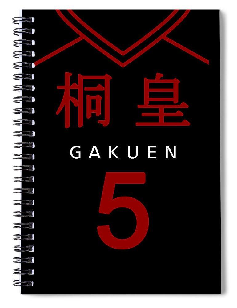 Gakuen Spiral Notebook featuring the digital art Gakuen by Geek N Rock