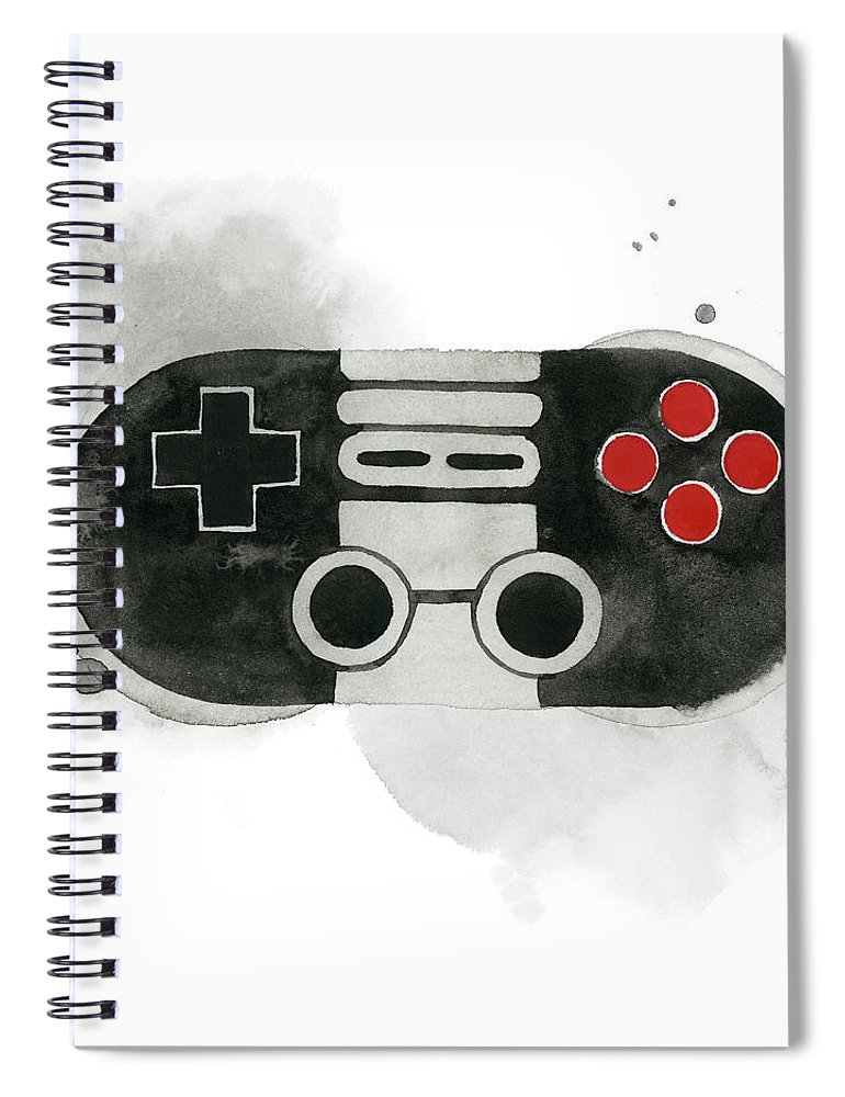 Entertainment & Leisure+games Spiral Notebook featuring the painting Gamer Iv by Grace Popp