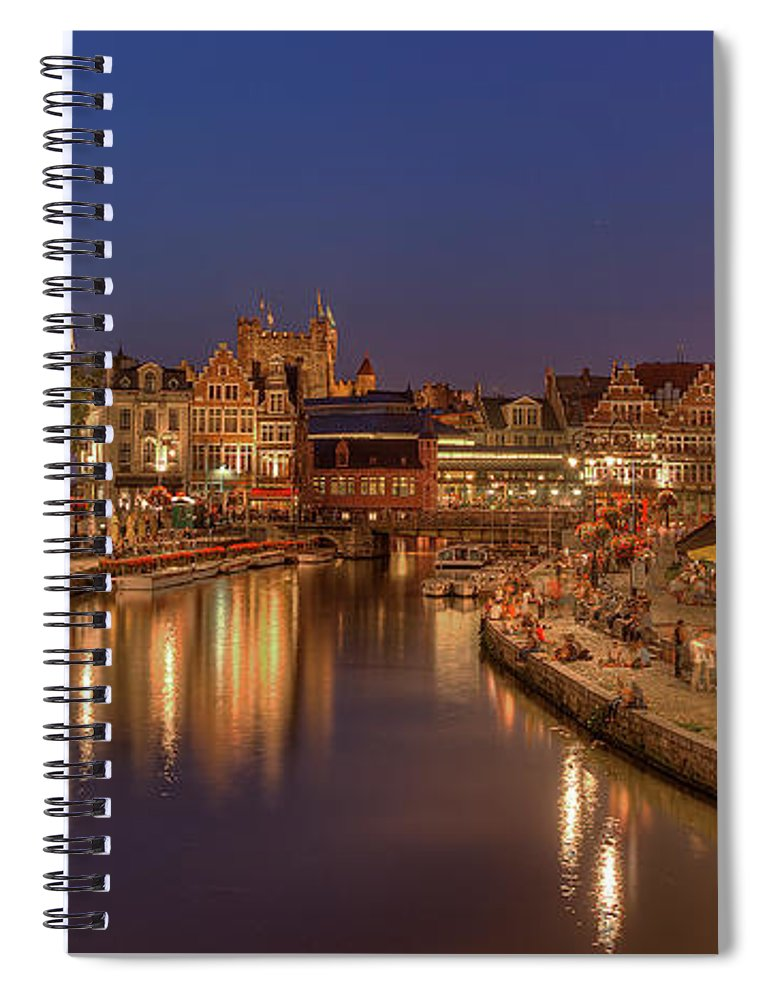 Tranquility Spiral Notebook featuring the photograph Gent - 03101119 by Klaus Kehrls