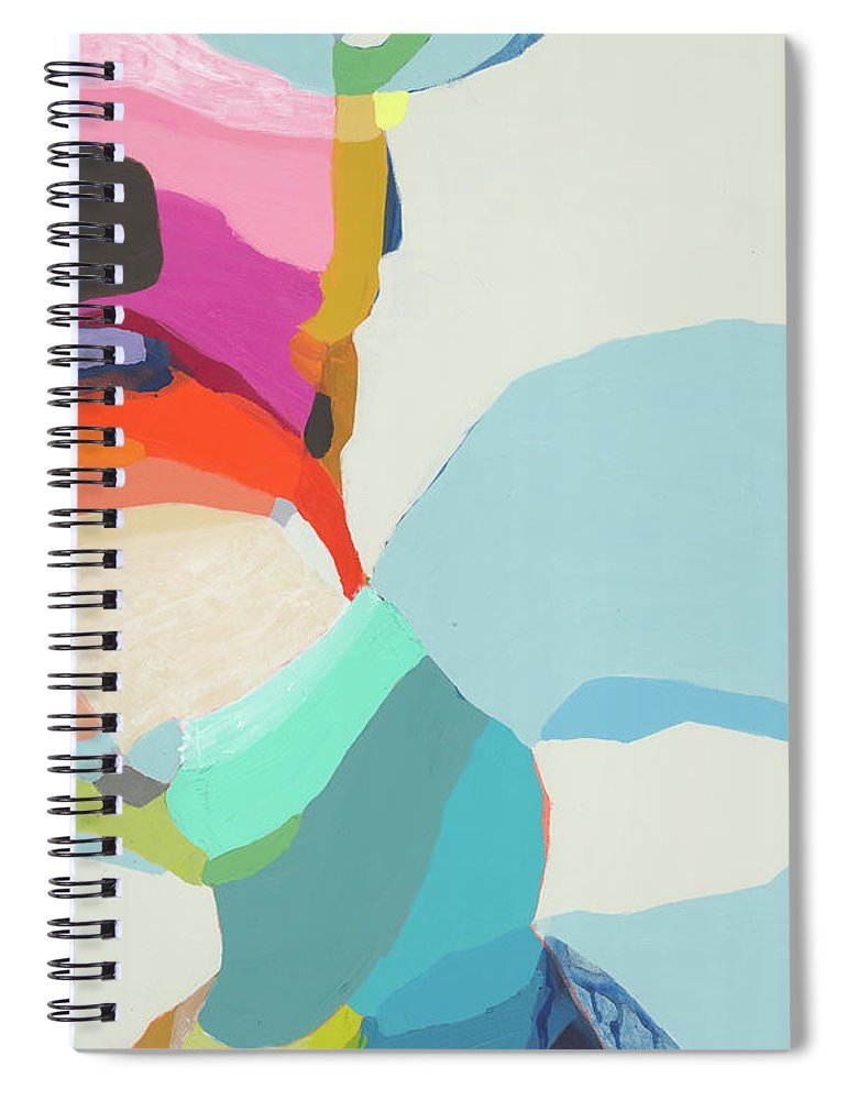 Abstract Spiral Notebook featuring the painting Georgia To My Left by Claire Desjardins