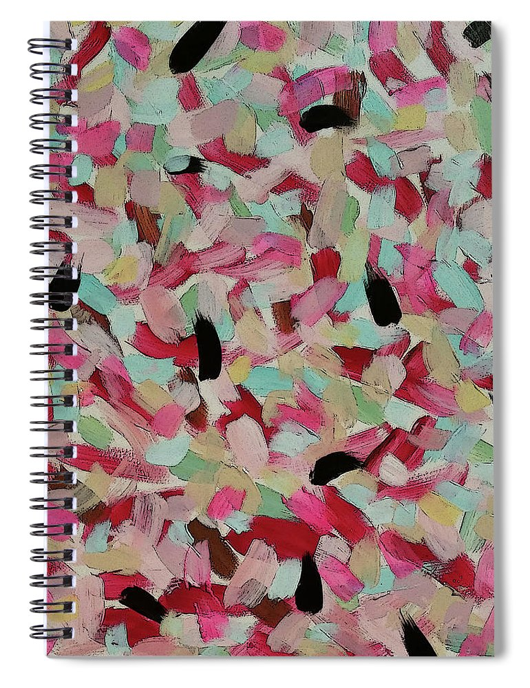 Modern Spiral Notebook featuring the painting Ginette by Jordan Harcourt-Hughes