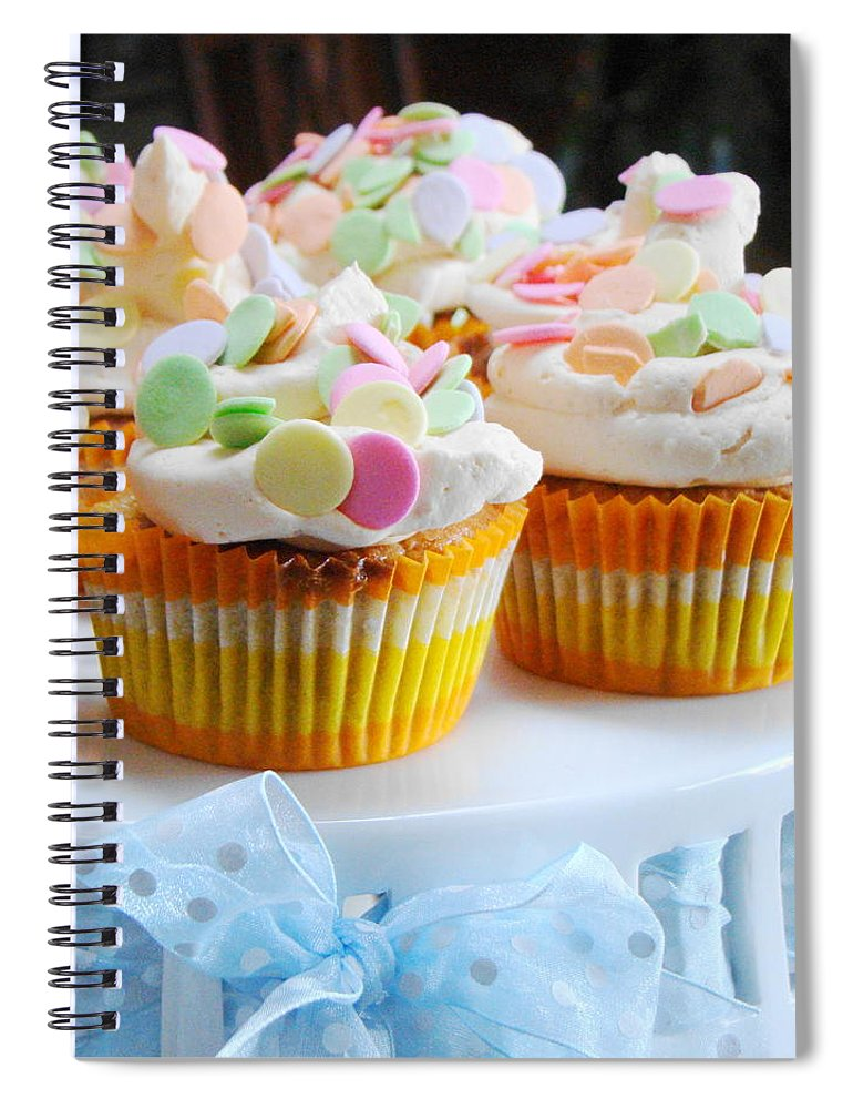 Five Objects Spiral Notebook featuring the photograph Ginger Mango With Polka Dots by Janet Hudson