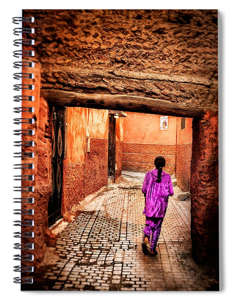 Child Spiral Notebook featuring the photograph Girl In Marrakech by Nature And Beauty Photographer