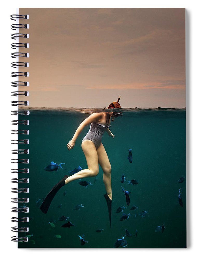 People Spiral Notebook featuring the photograph Girl Snorkelling by Rjw