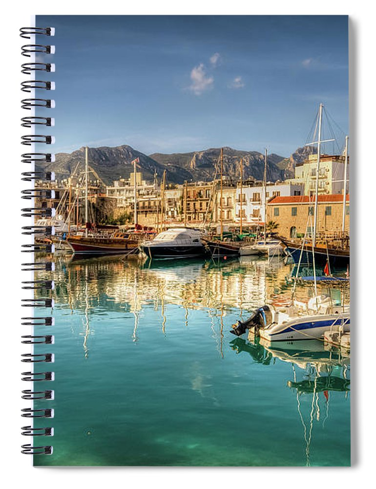 Tranquility Spiral Notebook featuring the photograph Girne Kyrenia , North Cyprus by Nejdetduzen