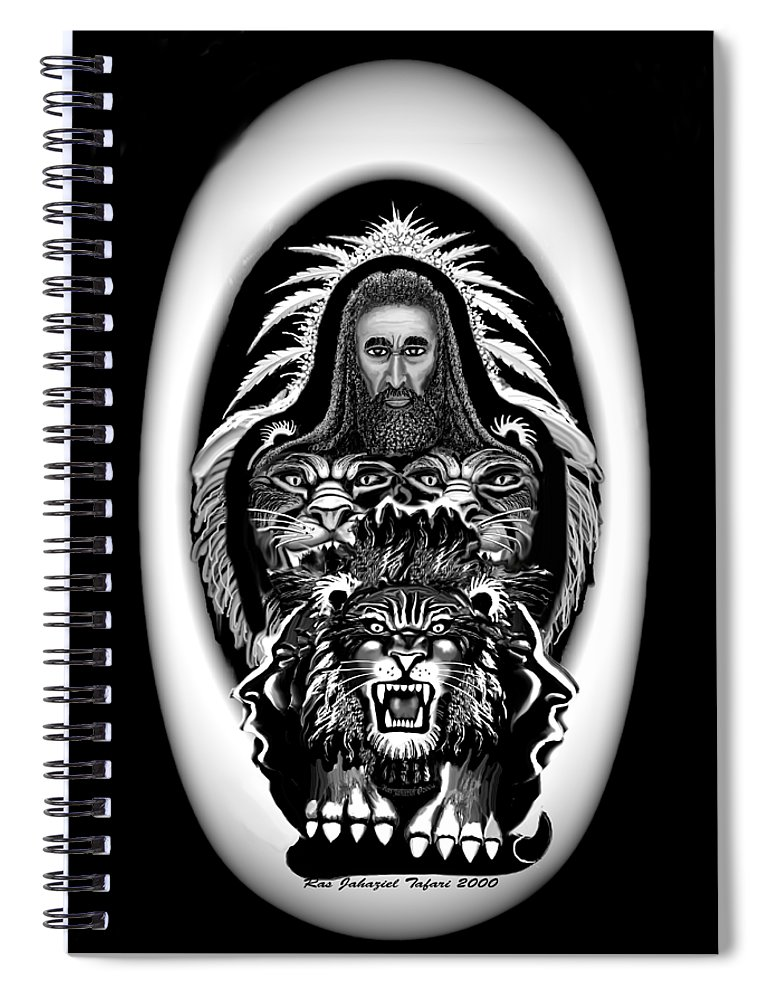 Pastel Chalk Spiral Notebook featuring the drawing Give Us The Truth 2 by Ras Tafari