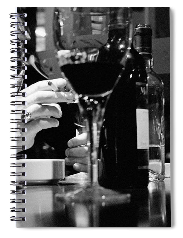 Smoking Spiral Notebook featuring the photograph Glasses Of Wine by Matt Carr