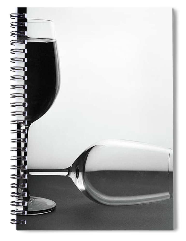 Alcohol Spiral Notebook featuring the photograph Glasses by Photo By Bhaskar Dutta