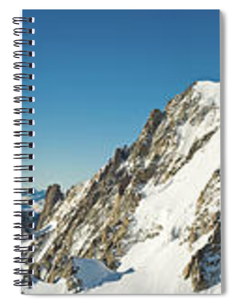 Scenics Spiral Notebook featuring the photograph Glorious Mountain Vista Xxxl by Fotovoyager