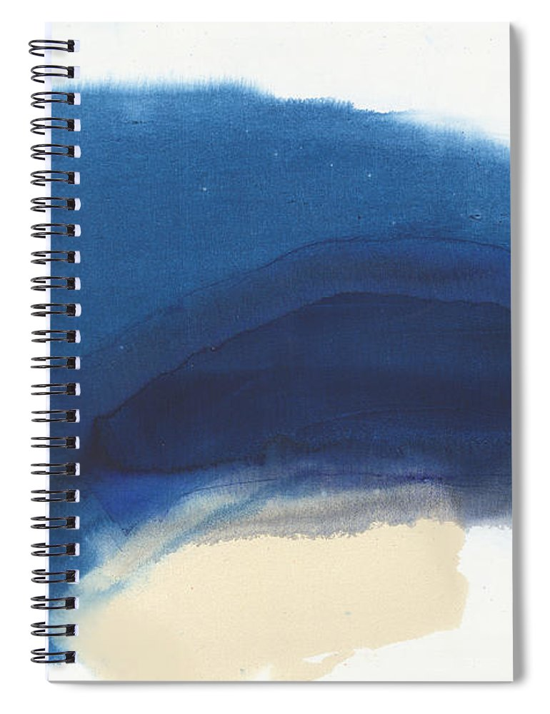 Abstract Spiral Notebook featuring the painting Go Easy by Claire Desjardins