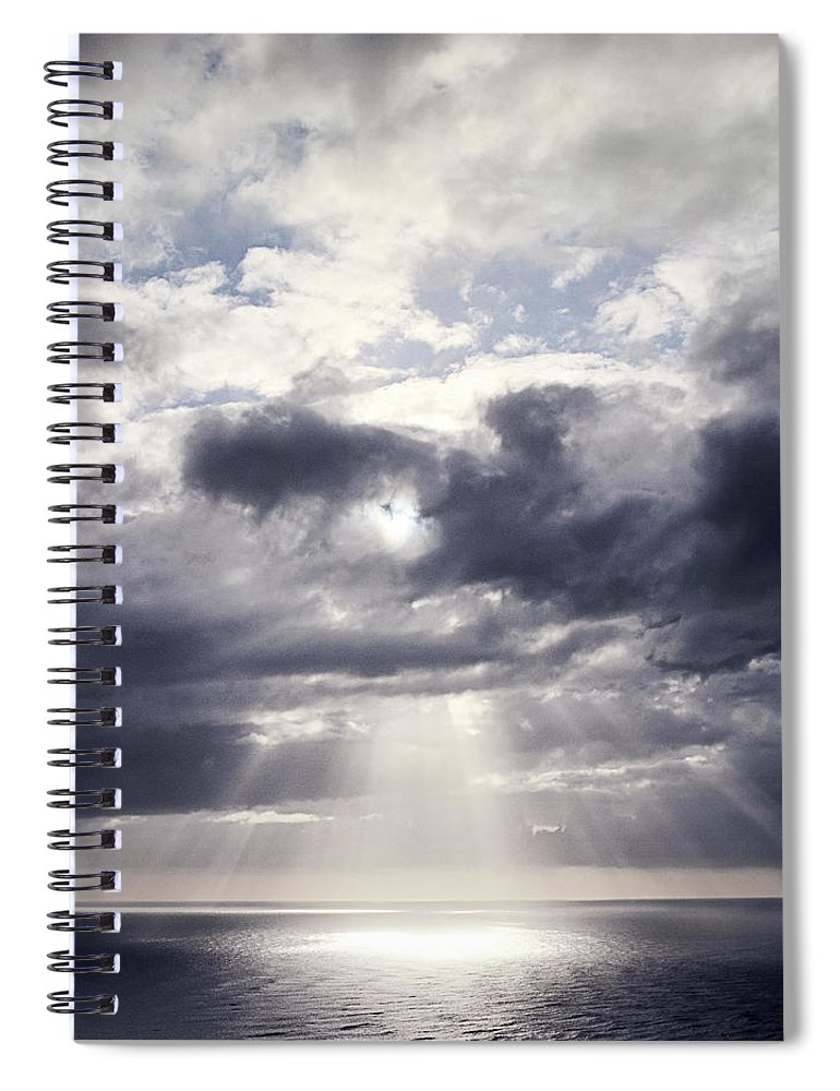 Scenics Spiral Notebook featuring the photograph Gods Above Us by Ioseph
