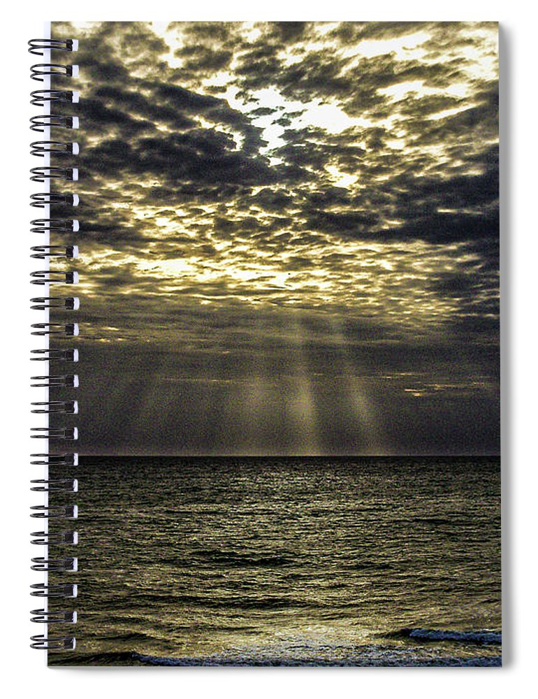 Fl Spiral Notebook featuring the photograph Gods Sun Rise by Louis Dallara