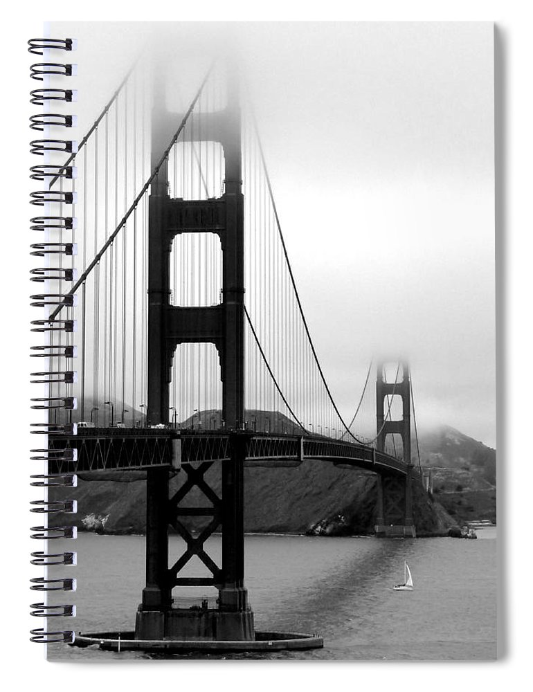 San Francisco Spiral Notebook featuring the photograph Golden Gate Bridge by Federica Gentile