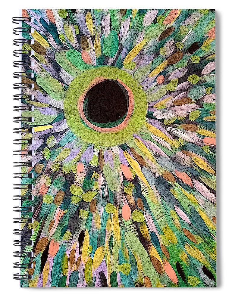 Abstract Spiral Notebook featuring the painting Golden by Jordan Harcourt-Hughes