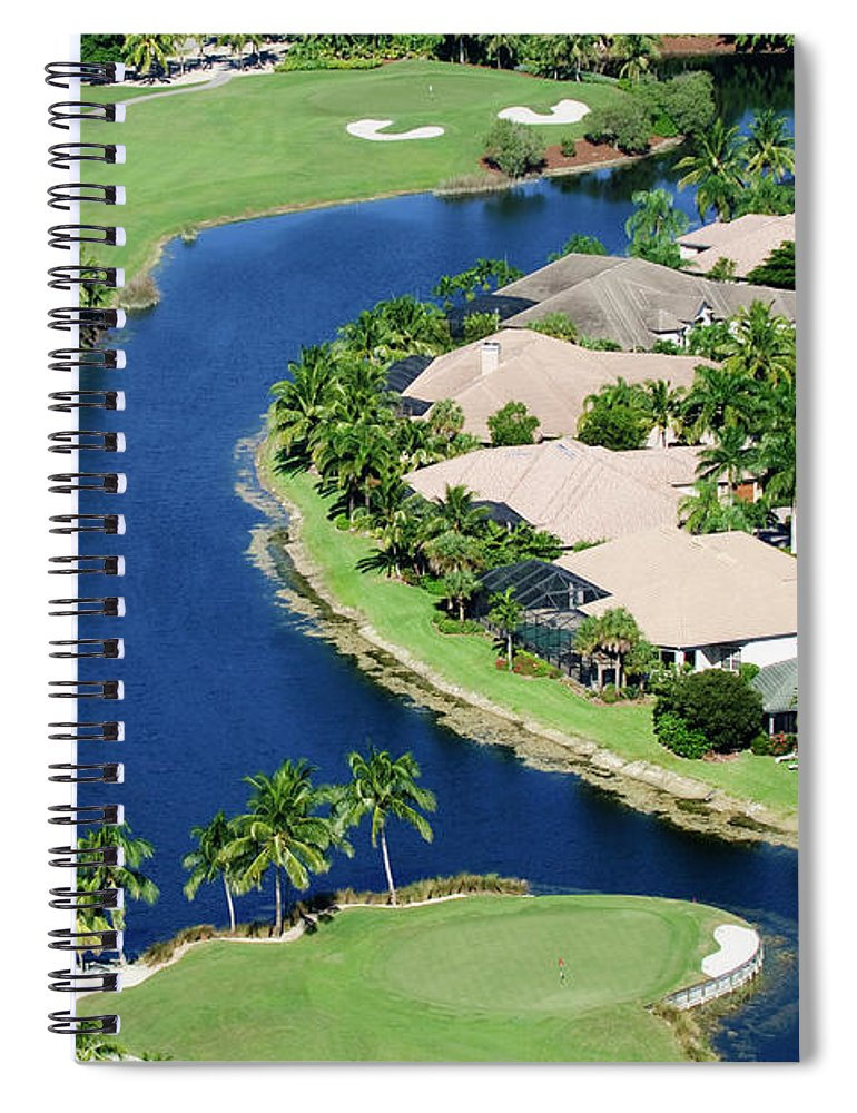 Recreational Pursuit Spiral Notebook featuring the photograph Golf Course Community by Negaprion
