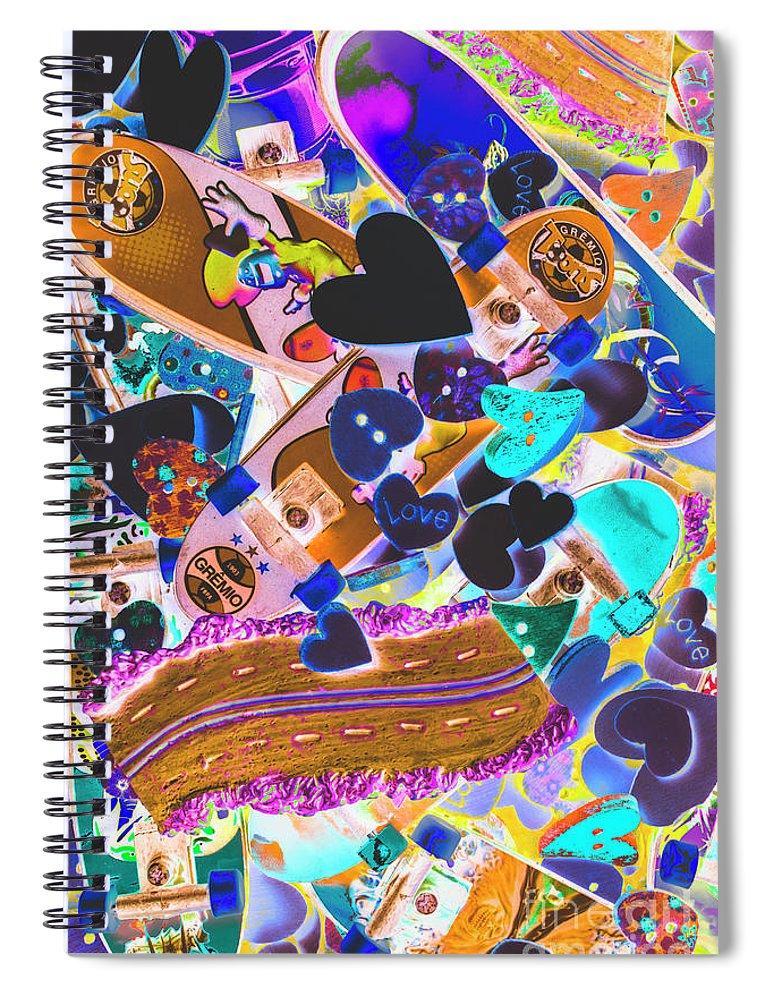 Cartoon Spiral Notebook featuring the photograph Graphic Decksign by Jorgo Photography - Wall Art Gallery
