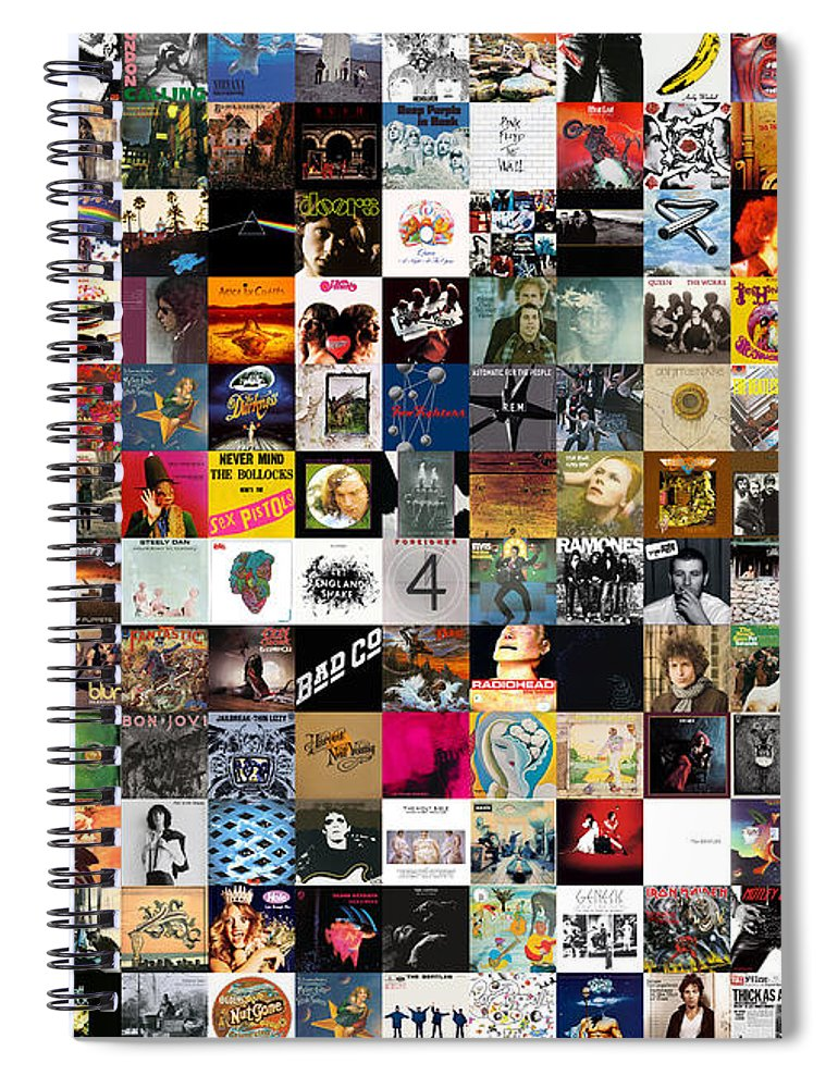 Album Covers Spiral Notebook featuring the digital art Greatest Rock Albums of All Time by Zapista OU