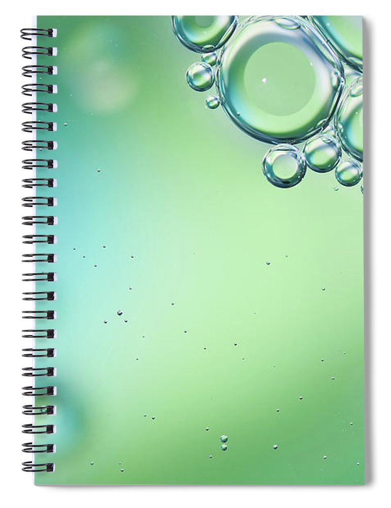 Art Spiral Notebook featuring the photograph Green And Blue Bubbles Background by Martin Wahlborg