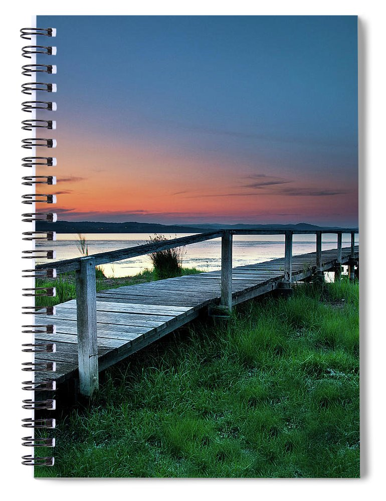 Tranquility Spiral Notebook featuring the photograph Greener On The Other Side by Photography By Carlo Olegario