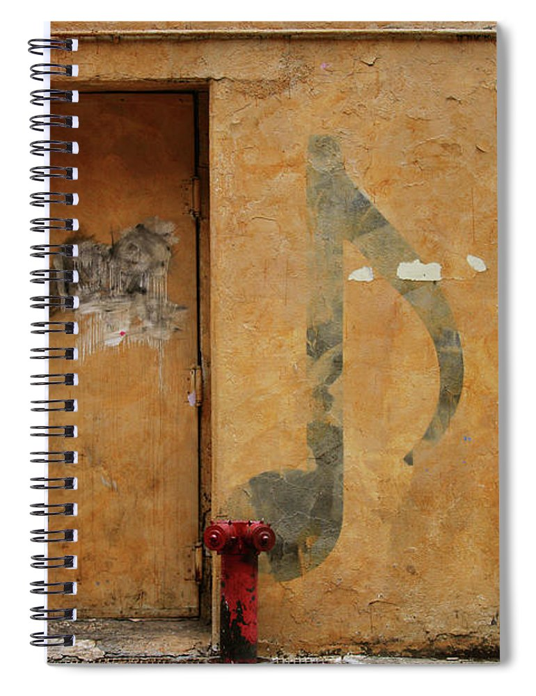 Nightclub Spiral Notebook featuring the photograph Grunge & Music by Caracterdesign