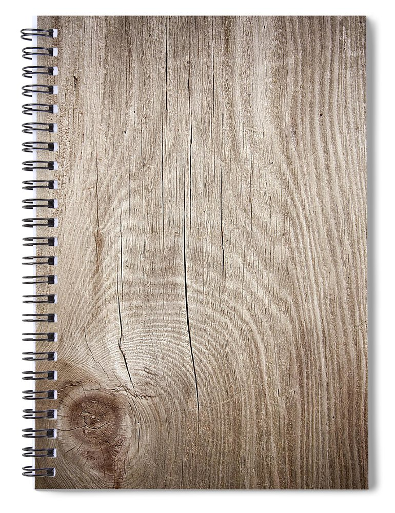 Material Spiral Notebook featuring the photograph Grunge Wood Textured Background With by Hudiemm